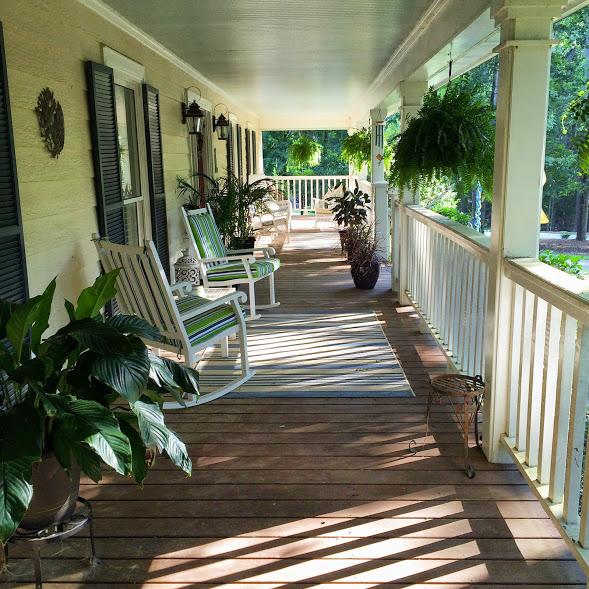 Lake Oconee front porch